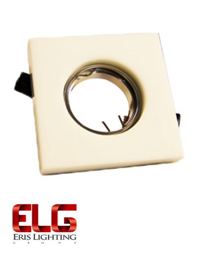 فریم لامپ کورین سفید مربعی