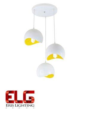 آویز سفید زرد سه تایی مدل 6603
