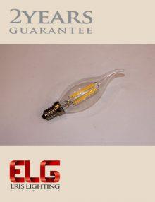 لامپ فیلامنتی لوستری 4W شیشه شفاف