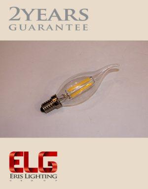 لامپ لوستر فیلامنتی لامپ فیلامنتی لوستری 4W شیشه شفاف