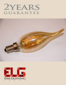 لامپ فیلامنتی لوستری 4W شیشه شامپاینی