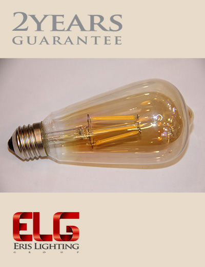 لامپ فیلامنتی گلابی 6W لامپ ادیسونی
