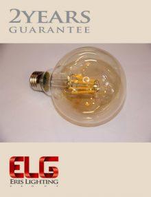لامپ ادیسونی G95 8W شیشه شامپاینی فیلامنتی