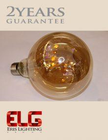 لامپ ادیسونی G125 8W شیشه شامپاینی فیلامنتی