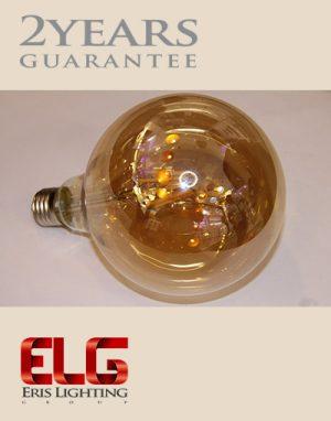 لامپ ادیسونی G125 8W شیشه شامپاینی فیلامنتیلامپ فیلامنتی ادیسونی
