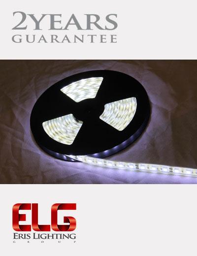 ریسه نواری 12 ولت SMD تراکم 60 نور سفید بدنه PVC