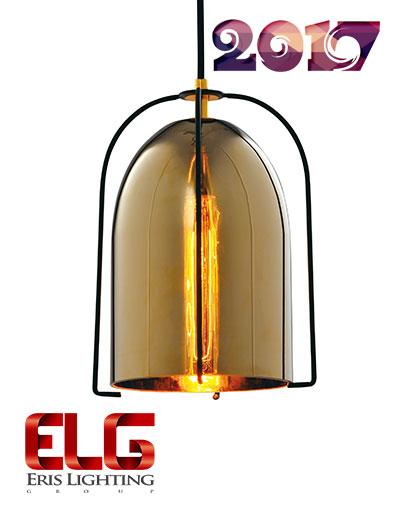 چراغ آویز شیشهای جدید مدل EL-141709GD