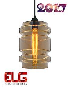چراغ آویز شیشهای جدید مدل EL-141721AM