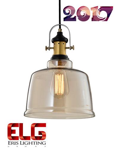 چراغ آویز شیشهای جدید مدل EL-142408AM