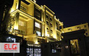 چراغ های نمای ساختمان