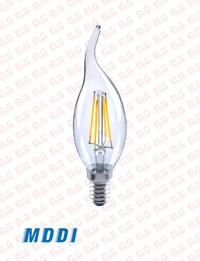 لامپ فیلامنتی لوستری مودی 4 وات بسته 100 عدد
