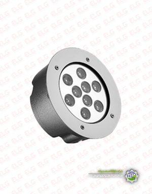 چراغ استخری 9 وات توکار ارتقا صنعت IP68