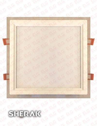 پنل دور شیشه ای 24 وات مربع SMD شراک