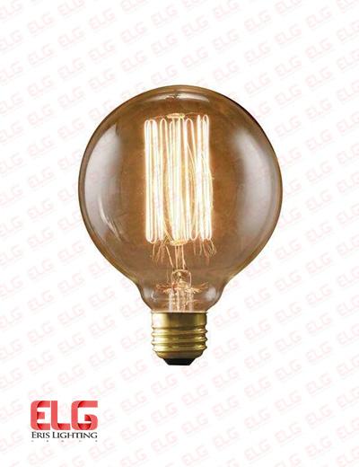 لامپ ادیسونی فنری 40W شیشه شامپاینی G95