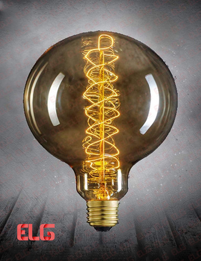 لامپ ادیسونی G125 خطی 40W شیشه شامپاینی