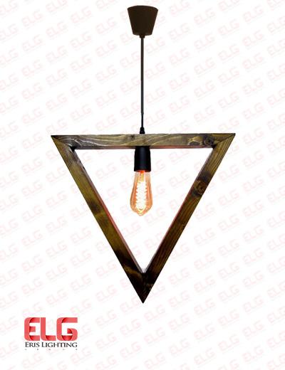 چراغ آویز چوبی مثلثی