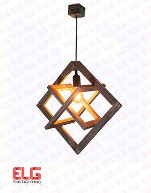 چراغ آویز چوبی E27 مدل ستاره