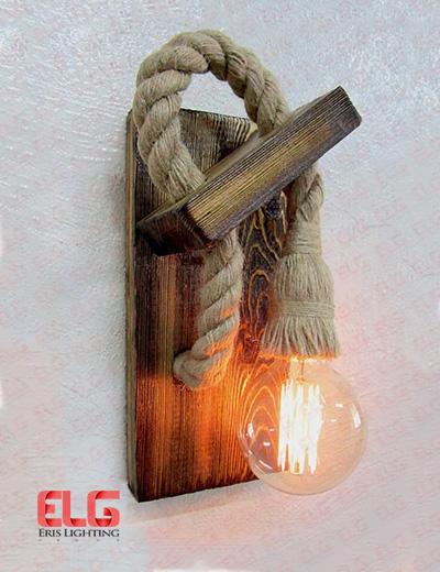 دیواری چوبی کنفی لامپ خور 60w