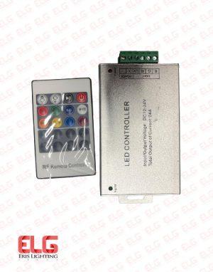 ریموت کنترل rgb ولتاژ 12-24 ولت 24 آمپر
