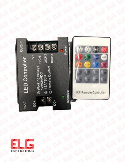 ریموت کنترل rgb ولتاژ 12-24 ولت 36 آمپر