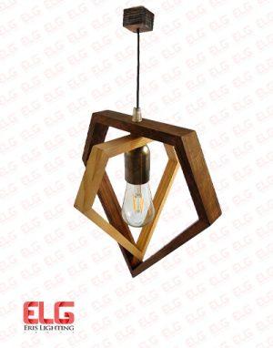 آویز چوبی هندسی M110