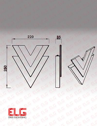 چراغ دکراتیو دیواری لوزی مدل AB0300A