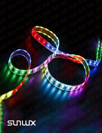 ریسه نواری LED مولتی رنگ (16 رنگ) سان لوکس مدل 5050-60PCS