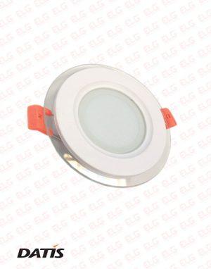 پنل دور شیشه ای SMD توکار گرد 6 وات IP54 داتیس مدل لومیا