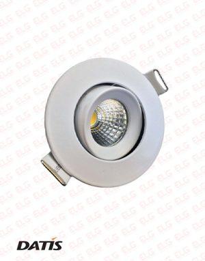 چراغ پنلی COB متحرک توکار 5 وات داتیس مدل atriya