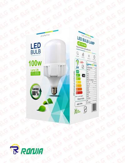لامپ LED حبابی استوانه ای بدنه آلومینیومی 100 وات رونیا