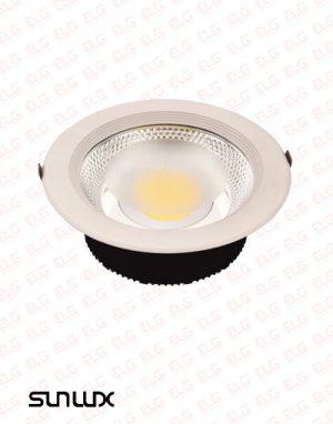 چراغ COB توکار 30 وات سان لوکس بدون ترانس (AC) مدل D302R