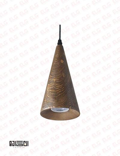 چراغ آویز چوبی لامپ دار انگاره