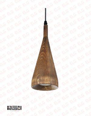 چراغ آویز انگاره چوبی لامپ دار مدل SORNA 1