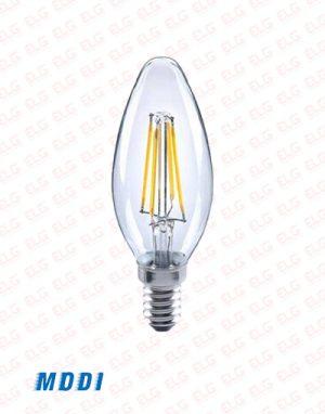 لامپ فیلامنتی 4 وات مودی پایه E14 مدل candle
