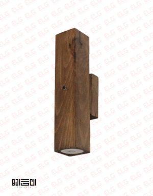 چراغ دیواری دکوراتیو دو طرفه تمام چوبی با لامپ انگاره مدل دارکوب 4