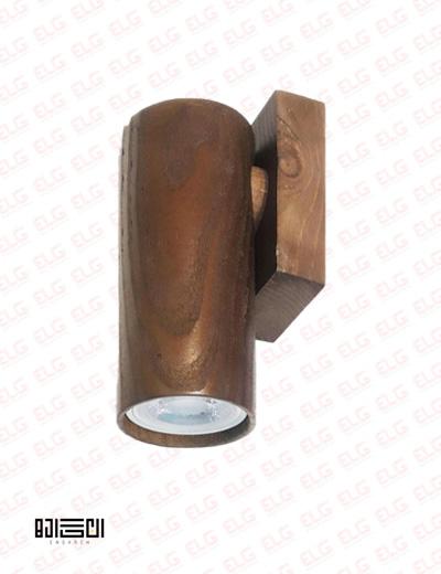 چراغ دیواری تمام چوبی با لامپ انگاره مدل دارکوب 1
