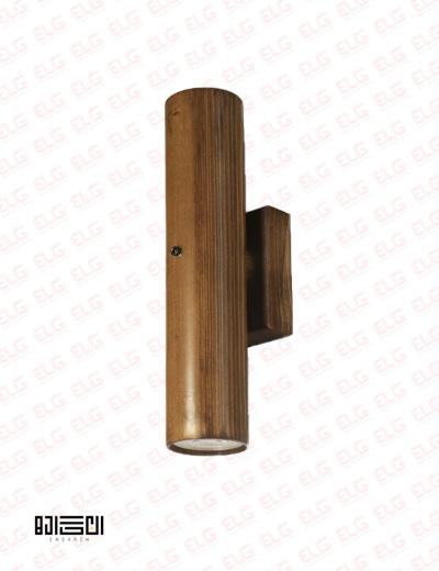 چراغ دکوراتیو دو طرفه تمام چوبی با لامپ انگاره مدل دارکوب 2