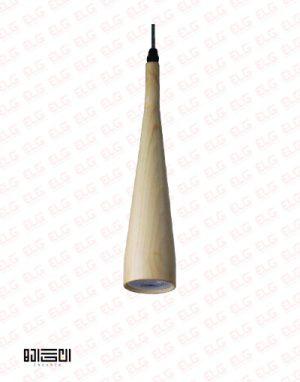 چراغ آویز انگاره چوبی لامپ دار مدل SORNA 3