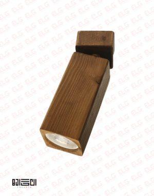 چراغ دیواری تمام چوبی با لامپ انگاره مدل نگاه 3