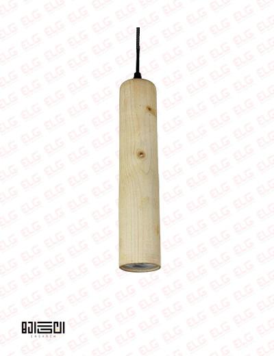 چراغ آویز انگاره چوبی لامپ دار مدل NEY 1