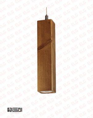 چراغ آویز انگاره چوبی لامپ دار مدل NEY 3