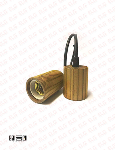 لامپ آویز تمام چوبی انگاره مدل WPS 01