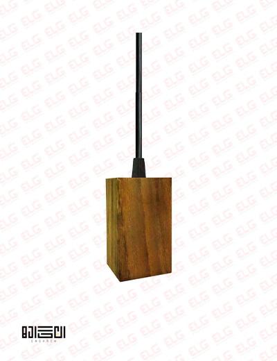 لامپ آویز تمام چوبی انگاره مدل WPS 03