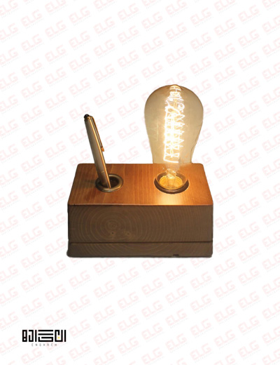 چراغ رومیزی چوبی انگاره مدل پرتو