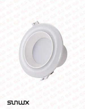 چراغ پنلی LED توکار 10 وات دو رنگ ریموت دار سان لوکس مدل D101R