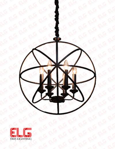 آویز مدرن 6 شعله فلزی قطر 50 سانت