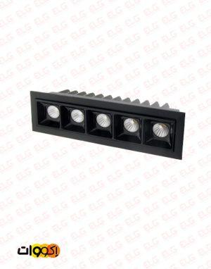 چراغ توکار خطی 12 وات High Power LED اکووات