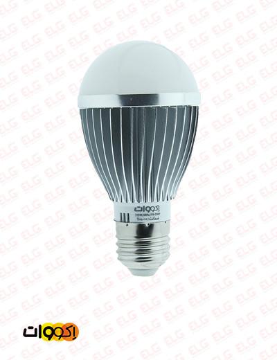 لامپ LED حبابی 7.5 وات بدنه آلومینیومی اکووات