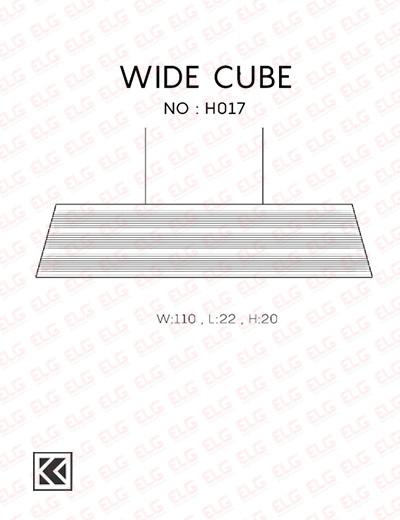 لوستر آویز کارتنی دست ساز 2 شعله مدل WIDE CUBE