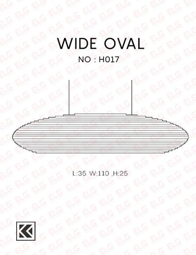 لوستر آویز کارتنی دستساز مدل WIDE OVAL